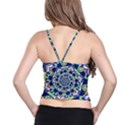 Power Spiral Polygon Blue Green White Spaghetti Strap Bra Top View2