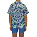 Power Spiral Polygon Blue Green White Kids  Short Sleeve Swimwear View2