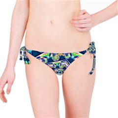 Power Spiral Polygon Blue Green White Bikini Bottom