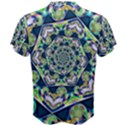 Power Spiral Polygon Blue Green White Men s Cotton Tee View2
