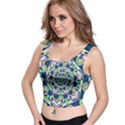 Power Spiral Polygon Blue Green White Crop Top View1