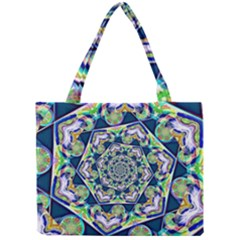 Power Spiral Polygon Blue Green White Mini Tote Bag