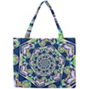 Power Spiral Polygon Blue Green White Mini Tote Bag View1