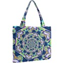 Power Spiral Polygon Blue Green White Mini Tote Bag View2