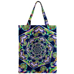 Power Spiral Polygon Blue Green White Classic Tote Bag