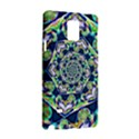 Power Spiral Polygon Blue Green White Samsung Galaxy Note 4 Hardshell Case View3