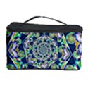 Power Spiral Polygon Blue Green White Cosmetic Storage Case View1