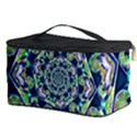 Power Spiral Polygon Blue Green White Cosmetic Storage Case View3