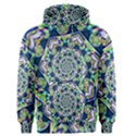 Power Spiral Polygon Blue Green White Men s Pullover Hoodie View1
