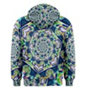 Power Spiral Polygon Blue Green White Men s Pullover Hoodie View2