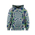 Power Spiral Polygon Blue Green White Kids  Pullover Hoodie View1