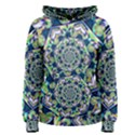 Power Spiral Polygon Blue Green White Women s Pullover Hoodie View1
