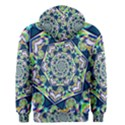 Power Spiral Polygon Blue Green White Men s Zipper Hoodie View2