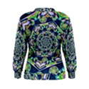 Power Spiral Polygon Blue Green White Women s Sweatshirt View2