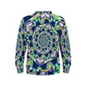 Power Spiral Polygon Blue Green White Kids  Sweatshirt View2