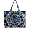 Power Spiral Polygon Blue Green White Zipper Mini Tote Bag View2