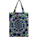 Power Spiral Polygon Blue Green White Zipper Classic Tote Bag View1
