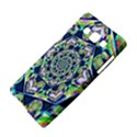 Power Spiral Polygon Blue Green White Samsung Galaxy A5 Hardshell Case  View4
