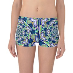 Power Spiral Polygon Blue Green White Boyleg Bikini Bottoms