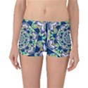 Power Spiral Polygon Blue Green White Boyleg Bikini Bottoms View1