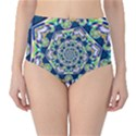 Power Spiral Polygon Blue Green White High-Waist Bikini Bottoms View1