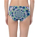 Power Spiral Polygon Blue Green White Mid-Waist Bikini Bottoms View2