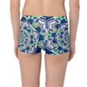 Power Spiral Polygon Blue Green White Reversible Boyleg Bikini Bottoms View2
