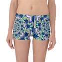 Power Spiral Polygon Blue Green White Reversible Boyleg Bikini Bottoms View3