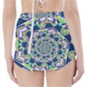 Power Spiral Polygon Blue Green White High-Waisted Bikini Bottoms View2