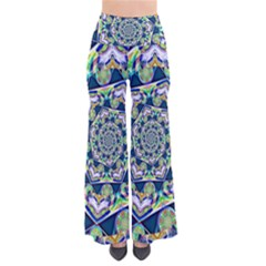 Power Spiral Polygon Blue Green White Pants
