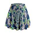 Power Spiral Polygon Blue Green White Mini Flare Skirt View2