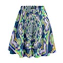 Power Spiral Polygon Blue Green White High Waist Skirt View1