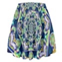 Power Spiral Polygon Blue Green White High Waist Skirt View2