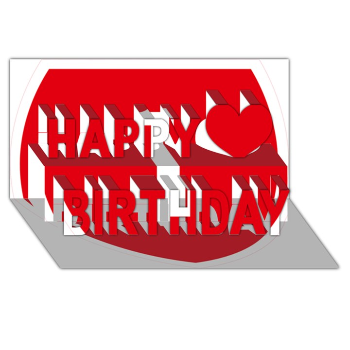 New Zealand State Highway 1 Happy Birthday 3D Greeting Card (8x4)