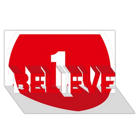 New Zealand State Highway 1 BELIEVE 3D Greeting Card (8x4)