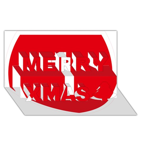 New Zealand State Highway 1 Merry Xmas 3D Greeting Card (8x4)