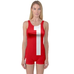 New Zealand State Highway 1 One Piece Boyleg Swimsuit