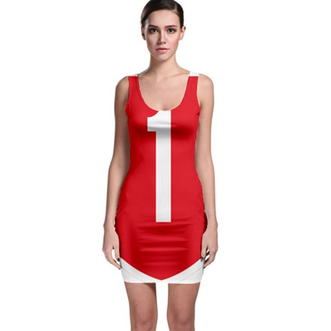 New Zealand State Highway 1 Sleeveless Bodycon Dress