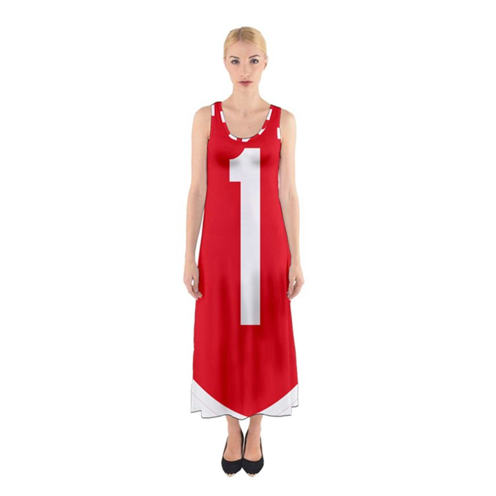 New Zealand State Highway 1 Sleeveless Maxi Dress