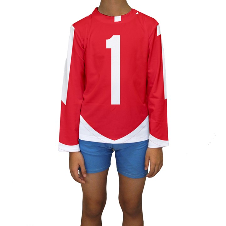 New Zealand State Highway 1 Kids  Long Sleeve Swimwear