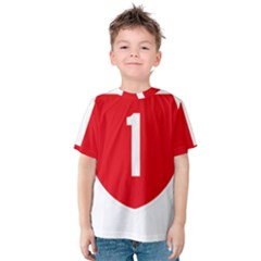 New Zealand State Highway 1 Kids  Cotton Tee