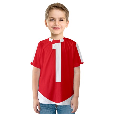New Zealand State Highway 1 Kids  Sport Mesh Tee