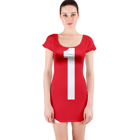 New Zealand State Highway 1 Short Sleeve Bodycon Dress