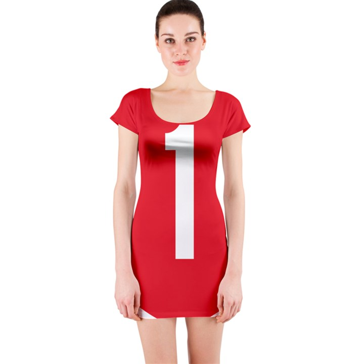 New Zealand State Highway 1 Short Sleeve Bodycon Dress