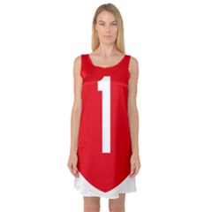 New Zealand State Highway 1 Sleeveless Satin Nightdress