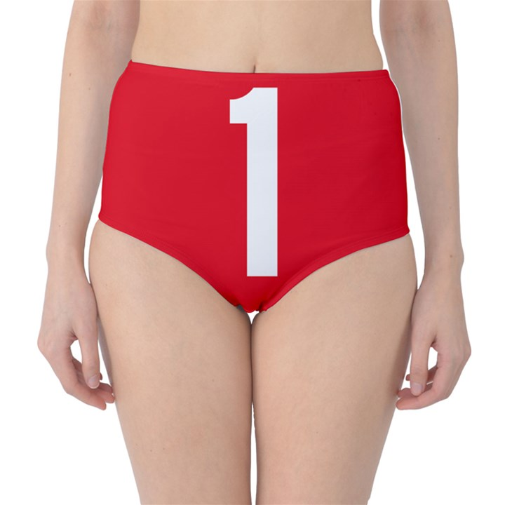New Zealand State Highway 1 High-Waist Bikini Bottoms