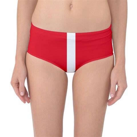 New Zealand State Highway 1 Mid-Waist Bikini Bottoms