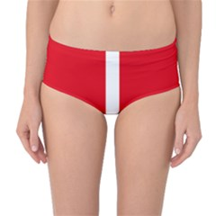 New Zealand State Highway 1 Mid Waist Bikini Bottoms