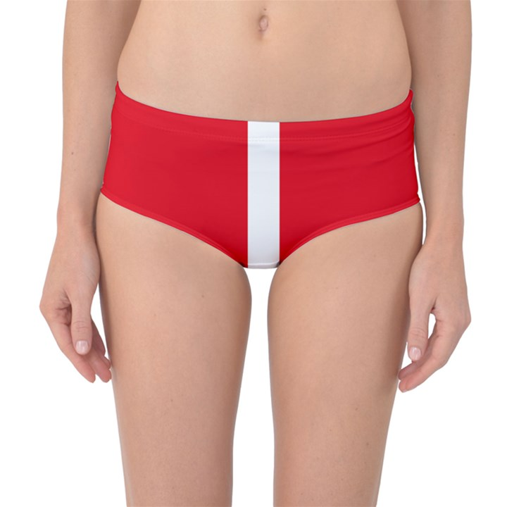New Zealand State Highway 1 Mid-Waist Bikini Bottoms