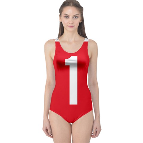 New Zealand State Highway 1 One Piece Swimsuit